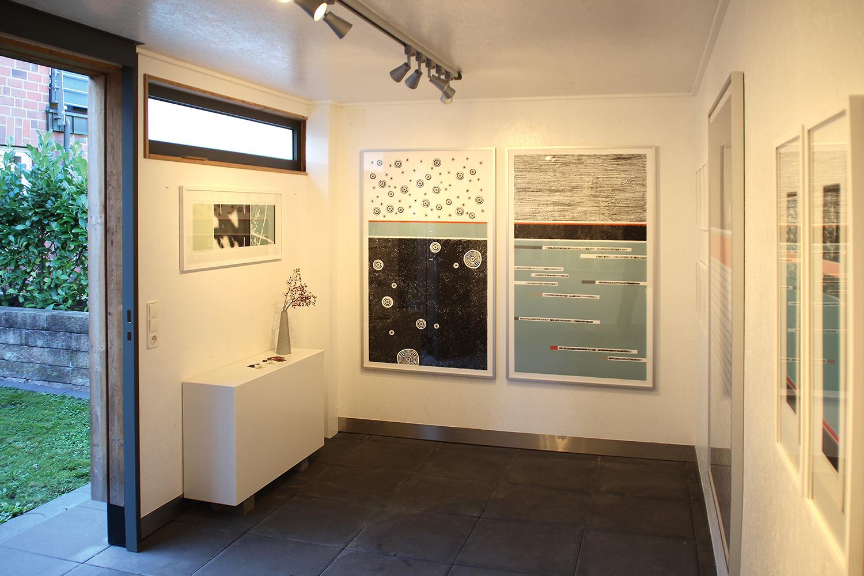 Offenes Atelier 2019   zusätzlicher Ausstellungsbereich   das Gartenhaus wird als temporäre Galerie genutzt