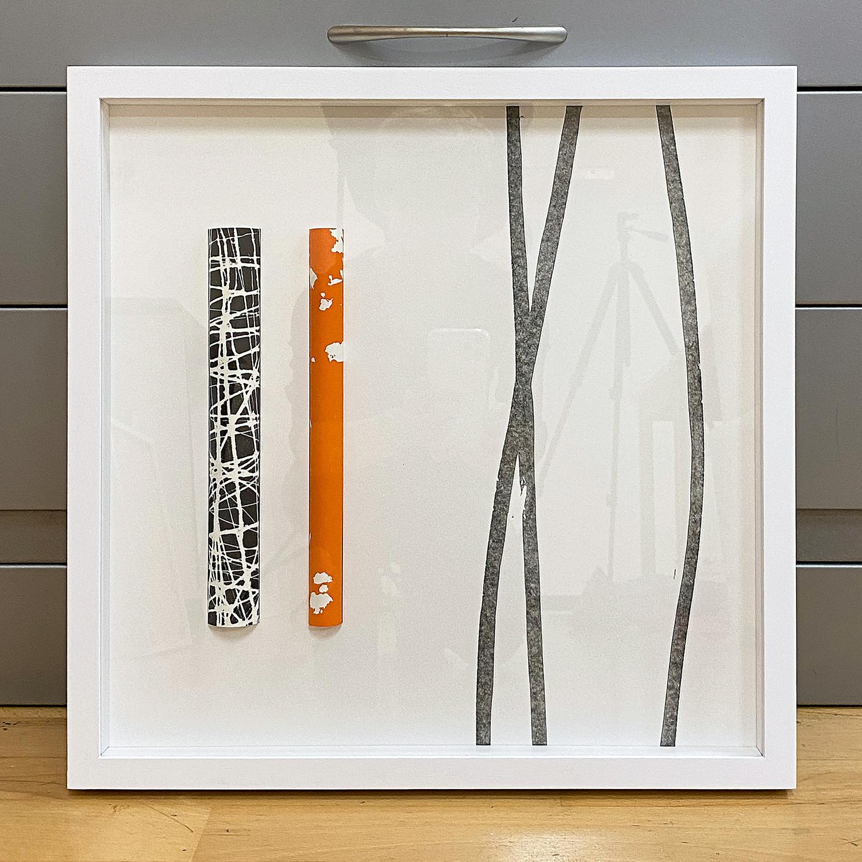 mein Ausstellungsbeitrag   OHNE TITEL   2020   Assemblage / Mischtechnik   40 x 40 cm