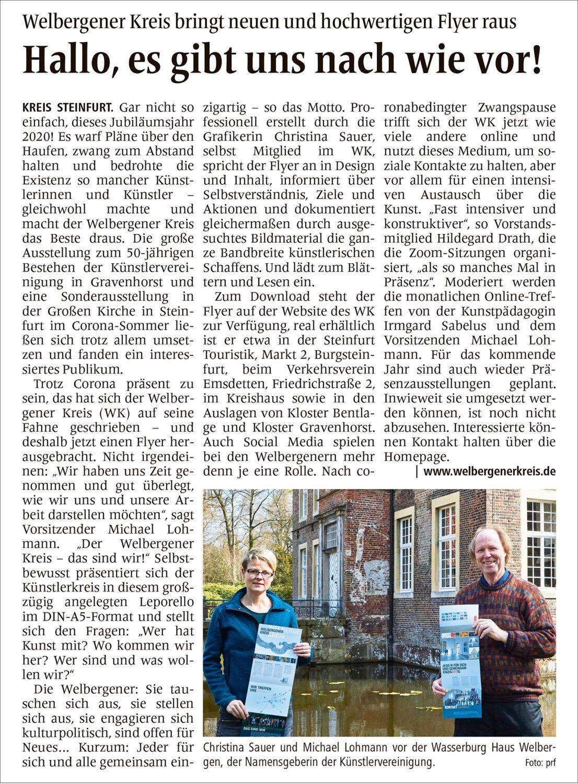 Zeitungsartikel   WN   23.04.2021