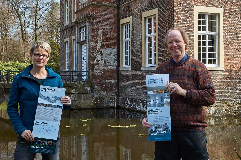 Pressefoto vor Wasserburg Haus Welbergen   Christina Sauer und Michael Lohmann [WK]