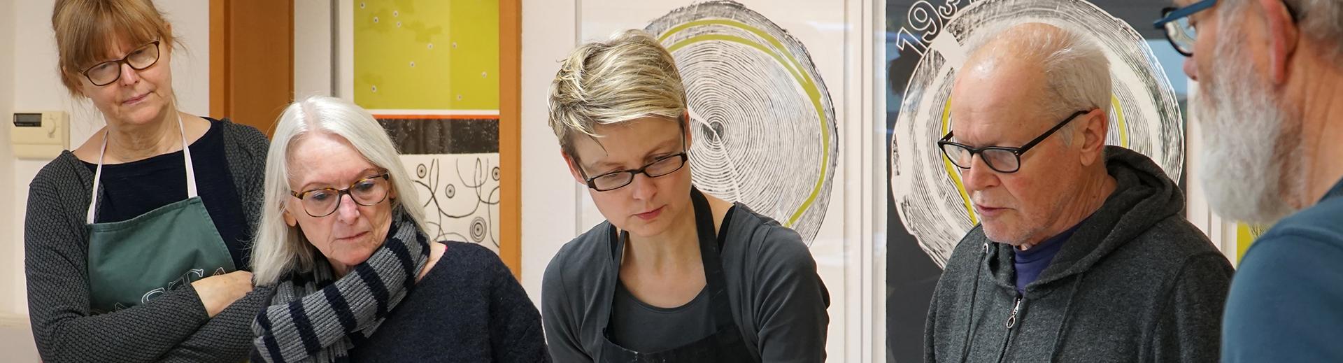 Workshops | Atelier Sauer Ibbenbüren | Bildbesprechung mit den Kursteilnehmern