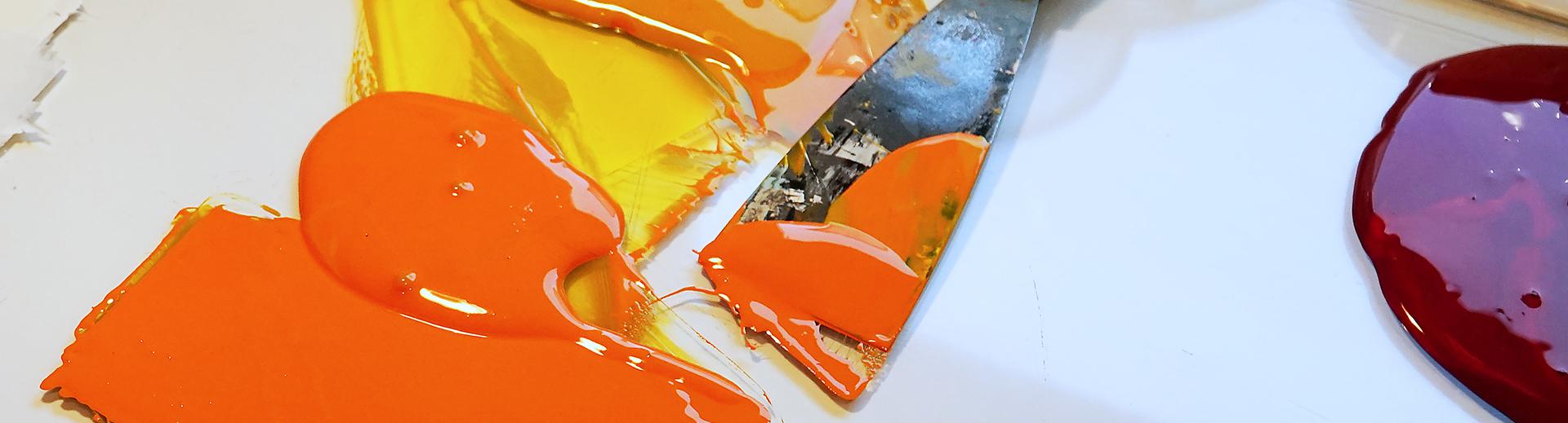 Workshops | Atelier Sauer Ibbenbüren | Farbspachtel