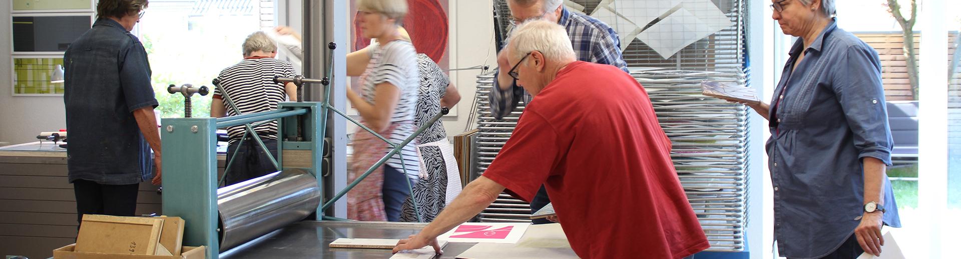 Workshops | Atelier Sauer Ibbenbüren | Kursteilnehmer in Aktion