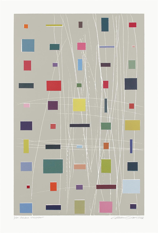1/10 VARIATION FARBFELDER | Monotypie / Farbholzschnitt | 80 x 52 cm [93 x 63 cm] | 2013 / 2018
