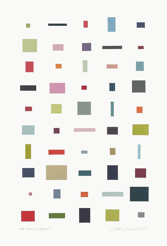 3/10 VARIATION FARBFELDER | Monotypie | 80 x 52 cm [93 x 63 cm] | 2013 / 2018