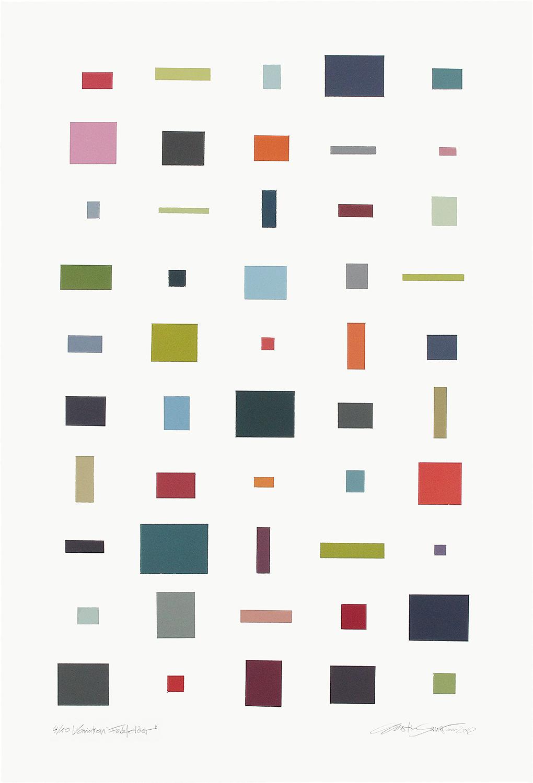 4/10 VARIATION FARBFELDER | Monotypie | 80 x 52 cm [93 x 63 cm] | 2013 / 2018