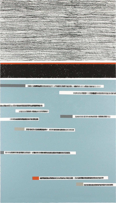 BAUM-GESCHICHTEN I | Auflage 4 | Handabzug von Baumscheiben / Monotypie | 140 x 80 cm | 2018