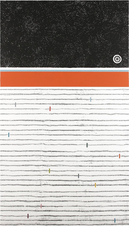 BAUM-GESCHICHTEN II | Auflage 4 | Handabzug von Baumscheiben / Monotypie | 140 x 80 cm | 2018