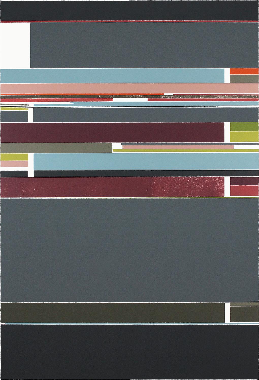 FARBGEFÜGE I | Unikat | Monotypie | 93 x 63 cm | 2020