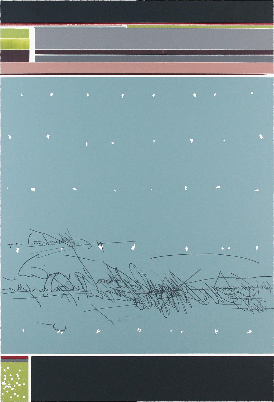 1/2 OHNE TITEL | Monotypie / Farbholzschnitt | 93 x 63 cm | 2020