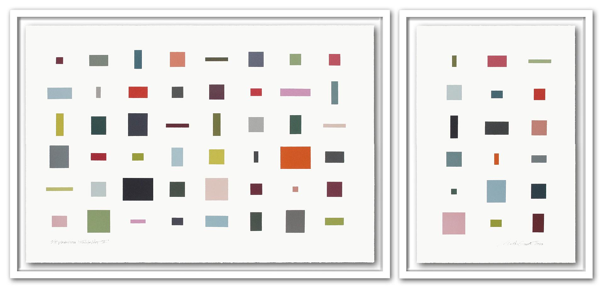 1/5 VARIATION FARBFELDER || | Auflage 5 [Variation] | 2-teilig | Monotypie | 73 x 157 cm [gerahmt] | 2020
